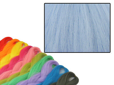 CYBERLOXSHOP PHANTASIA KANEKALON JUMBO BRAID CORNFLOWER BLUE HAIR DREADS