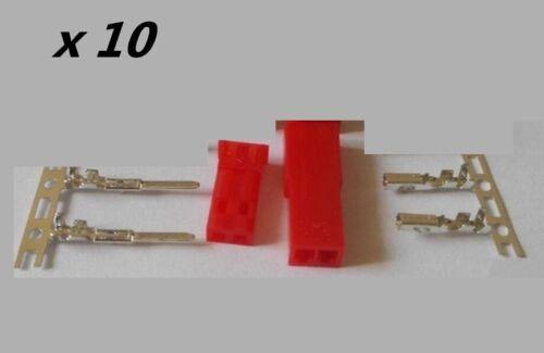 SYP JST 2.54mm Connecteur 2PIN mâle femelle prise kits ensemble: fiche