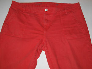 Tommy-Hilfiger-Size-12-35x27-Womens-Coral-Skinny-Jeans-Ankle-Zip