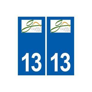 13 Gignac-la-nerthe Logo Ville Autocollant Plaque Sticker - Angles : Droits
