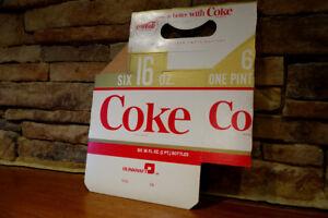 Vintage-1970-039-s-Coca-Cola-Cardboard-Six-Pack-Carrier