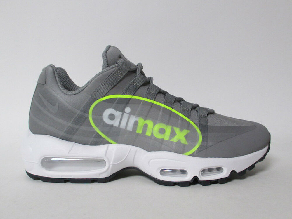 Nike Air Max 95 NS GPX Big Logo Dust Grey Volt White Black Sz 9.5 AJ7183-001