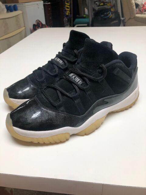 purchase cheap 39a70 c2c46 Men's Nike Air Jordan 11 Low Retro Barons Black White Size 11 (528895-010)