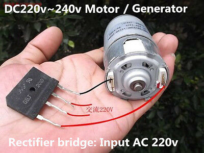 DC 220v~240v Strong Magneto Motor Hand generator with AC 220V Rectifier bridge