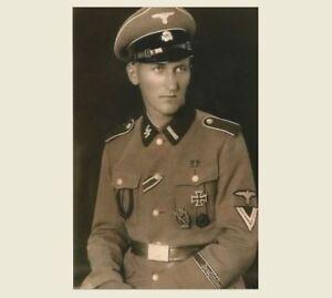 German SS Officer in Uniform PHOTO World War II Military ...