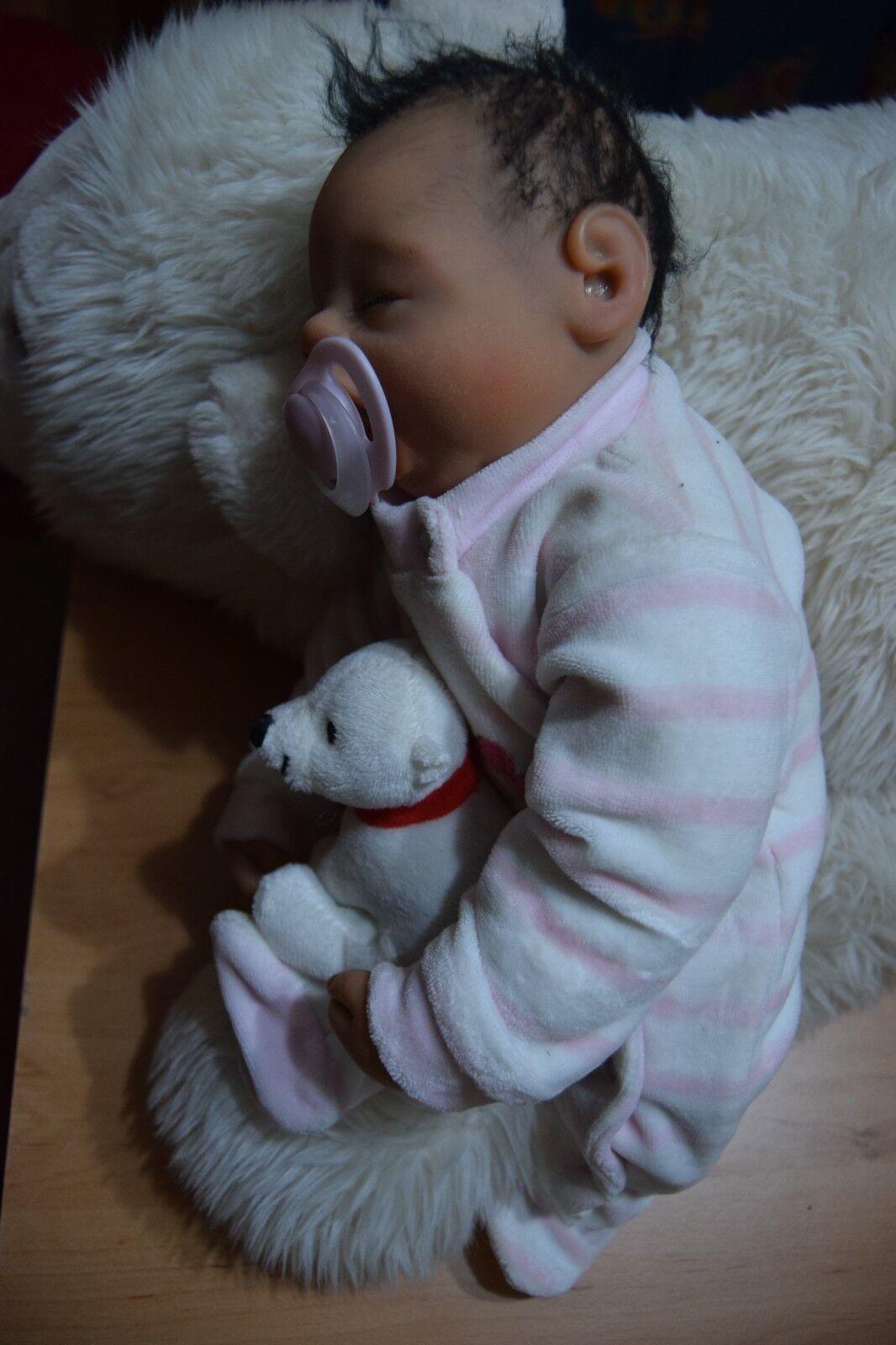 Reborn Puppe Frühchen Monhart Creation mit Gebursurkunde