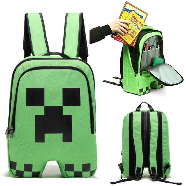 Minecraft Schoolbag Creeper Design Backpack Rucksack Boy Girls Sport Craft Bags