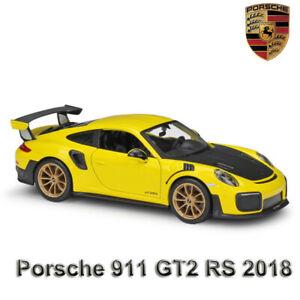 PORSCHE-911-GT2-RS-2018-maisto-echelle-1-24-Diecast-Modele-Super-Voiture-De-Sport-Modeles