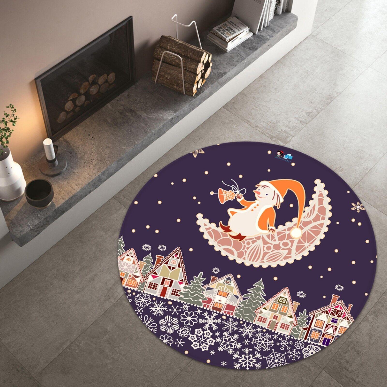 3D 3D 3D Christmas Xmas 521 Non Slip Rug Mat Room Mat Round Elegant Photo Carpet AU 2bce02