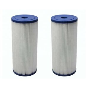 """2x Blue 5 Micron 10"""" x 4.5"""" Water Filter Pleated Sediment Replacement Cartridge"""