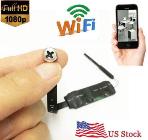 4K 1080P HD WiFi wireless IP Hidden SPY Pinhole Mini Camera DVR screw style cam