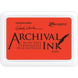 Ranger-Archival-Ink-POPPY-Acid-Free-Waterproof-Dye-Ink-Stamppad-Wendy-Vecchi