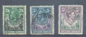 Northern-Rhodesia-1925-38-sg-12-13-amp-43-used