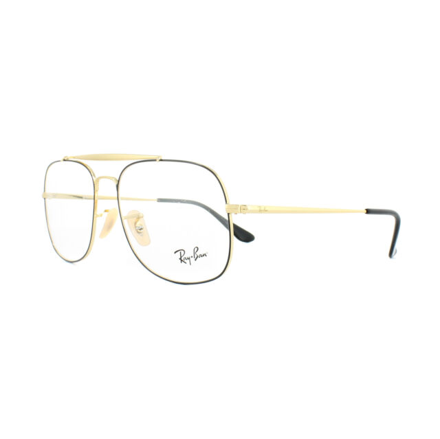 021b05b6cd Ray-Ban Glasses Frames 6389 The General 2946 Black Gold 57mm Mens for sale  online