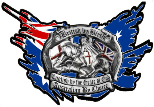 british by birth australian by choice vinyl decal 100mm by 84mm flag behind