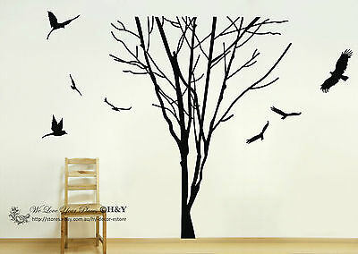 Giant Tree Branch Trunk Wall Art Stickers Removable Vinyl Decal Home Decor Mural