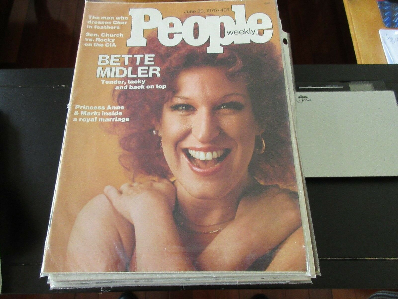 Bette Midler , People Weekly , 6/30/75 , Cher in Feathe