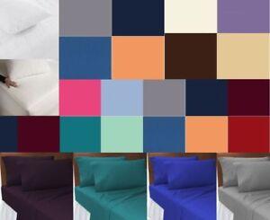 Flat-Bed-Sheet-Plain-Dyed-Polycotton-Sheets-Size-Single-Double-King-Super-king