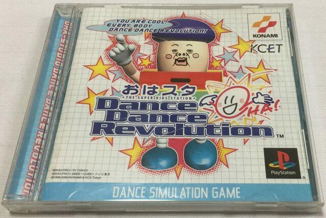 Oha Suta Dance Dance Revolution PS1 Konami Sony PlayStation 1 From Japan