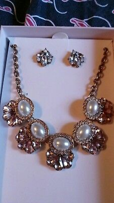 Glorious S2/18 Mini Statement Necklace With Earrings Superior Performance Fashion Jewelry Jewelry Sets