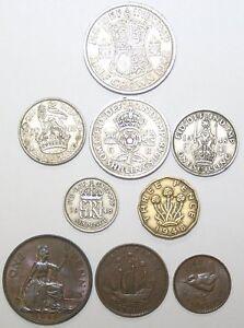 1947 & 1948 George Vi Complete British Coin Année Sets-afficher Le Titre D'origine BéNéFique Au Sperme