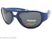 POLAROID Boys Kids Small Polarized Sunglasses Blue / Grey P0400A 0BQ