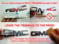 Domed & Non-domed Gmc Terrain Individual Emblem Overlays 3m Denali Grill Or Rear