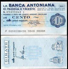 BANCA ANTONIANA DI PADOVA E TRIESTE 15/11/1976 COIN GRANDI MAGAZZINI L.100
