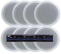 Pyle 4 Room In-ceiling Speaker System 8 X 5.25 Speakers & 4 Channel Selector