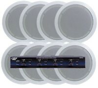 Pyle 4 Room In-ceiling Speaker System 8 X 5.25 Speakers & 4 Channel Selector
