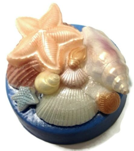 Flexible Soap SEASIDE SCENE SHELLS Silicone Mould Beach candles High Quality