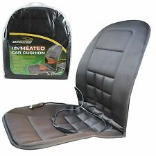 Brookstone 12v Universal Heated Padded Front Car Seat Cushion Cover Thermostat