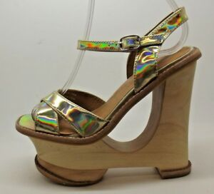 FAB-LADIES-JEFFREY-CAMPBELL-HARE-2-GOLD-CUT-OUT-WEDGE-DESIGN-HEELS-SANDALS-4-7
