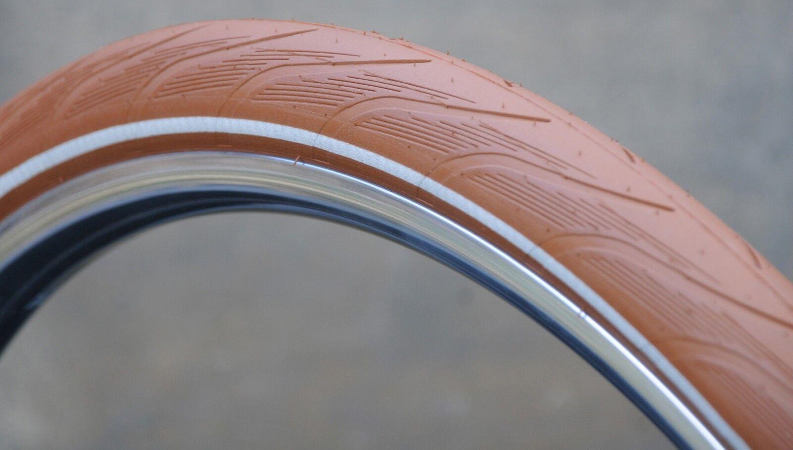 700x38 Brown Antique Red 29 Schwalbe Bicycle Tires 28  Vintage WoodWheel Bicycle