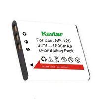 2x Kastar Battery For Casio Np-120 Exilim Ex-zs12rd Ex-zs12sr Ex-zs15 Ex-zs15bk