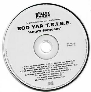"BOO YAA T-R.I.B.E.  ""Angry Samoans"" Album Promo CD 1997"