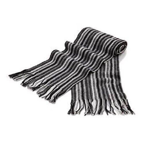 1 Ply Pure Cashmere Men's Stripe Scarf