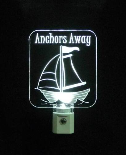 """Boat Personalized Sailboat Night Light Nursery 3//8/"""" acrylic LED Nautical"""