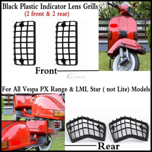 4Pcs Scooter PP Plastic Indicators Lens Grills For All Vespa PX Range /& LML Star