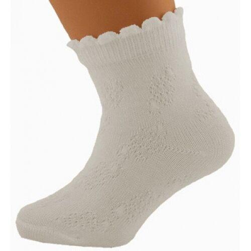 Socken BABYSOCKEN  in WEISS NEU 9-10cm Zuckersüße kleine Söckchen Nr.0So16b