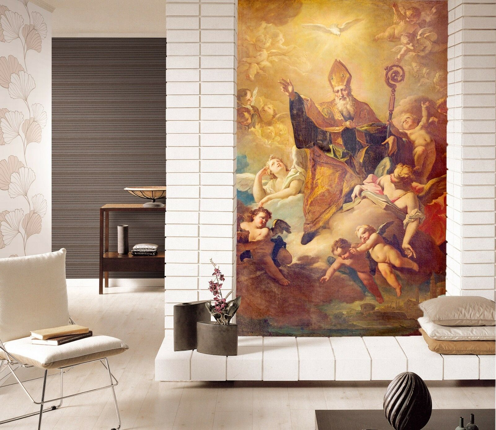 3D Classical Heaven Angel Baby 1 Wall Paper Wall Print Decal Wall Deco Indoor AJ