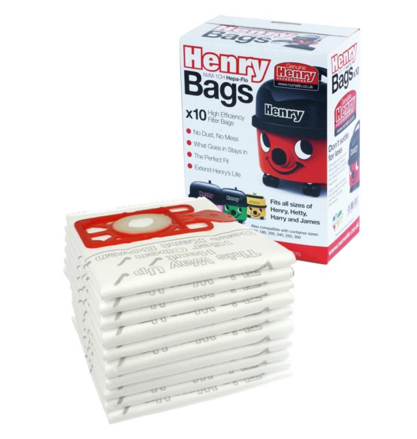 604015 Henry HVR200-22 Genuine Numatic Hepa-FLO NVM-1CH VACUUM BAGS Pack of 10