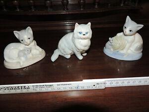 3-schoene-Katzenfiguren-um-1960-70-Grosse-Sammleraufloesung