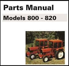 Belarus Tractor 800 820 Service Parts Manual