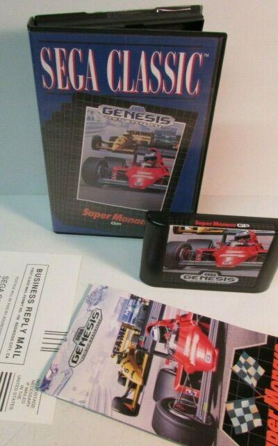 Super Monaco GP Sega Classic (Sega Genesis, 1990) Box manual game NMINT