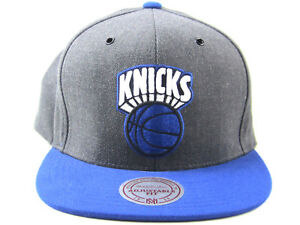 ab6a13ba6b9 New York Knicks Mitchell and Ness Dark Grey Arch Blue Bsktball ...