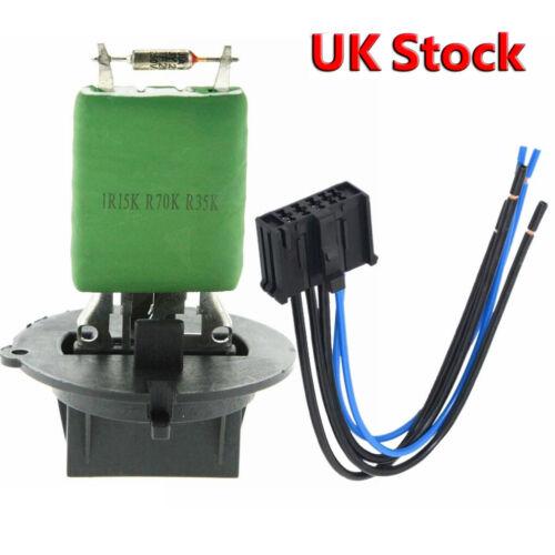 Heater Blower Motor Fan Resistor /& Wiring Loom For Peugeot 206 307 Citroen C3 UK