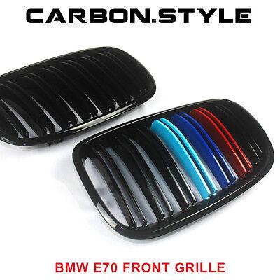 BMW E70 E71 ///M-color Gloss Black Front Grille X5 X6 M Look