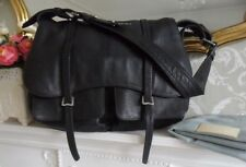 *Excellent* Radley Grosvenor Black Leather Large Flap Shoulder Bag