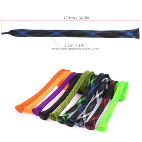 10PCS Fishing Rod Cover Spinning Casting Rod Sleeves Pole Sock Tube Protector